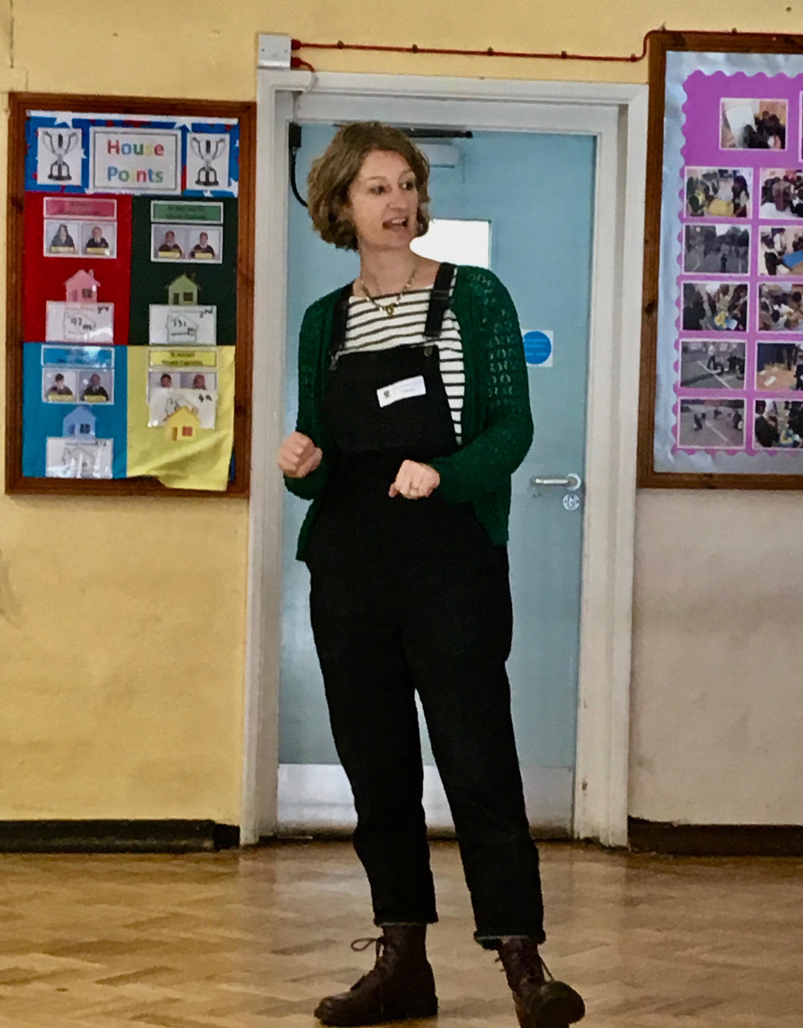 Emma Carroll school visit live experience