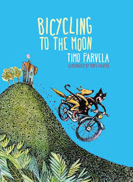 Bookwagon Bicycling to the Moon