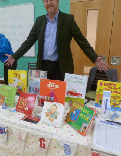 Bob at Bookwagon stall