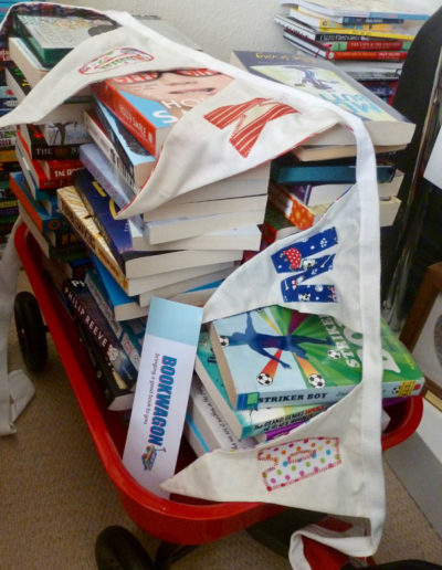 Bookwagon full of books