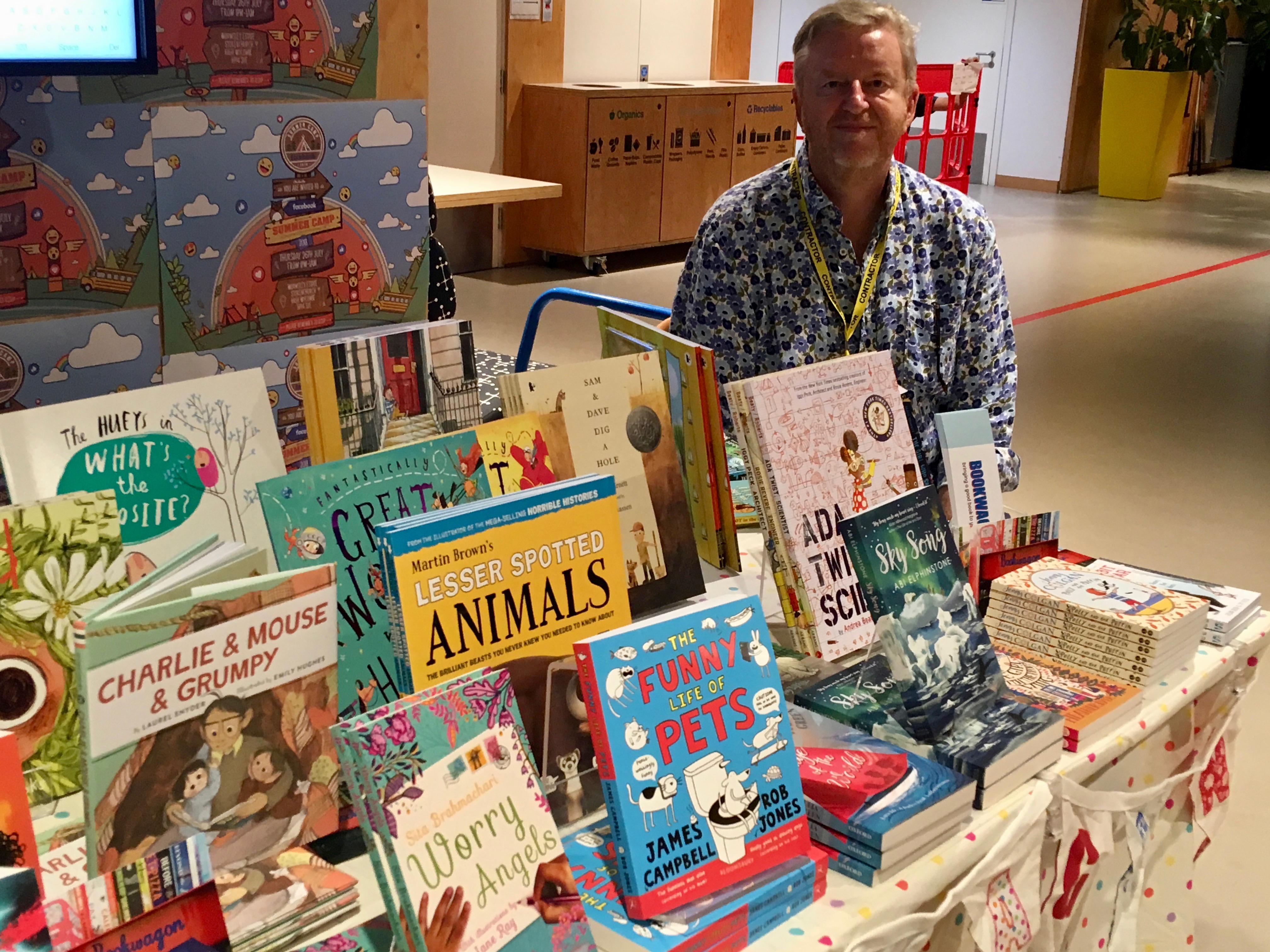 Bookwagon book fair at Facebook HQ