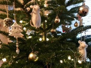 Bookwagon Christmas tree