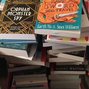 Bookwagon wagon pile