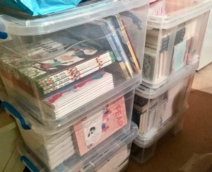 Bookwagon crates of school books