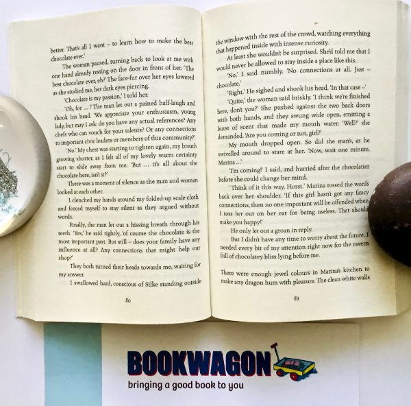 Bookwagon extract from 'The Dragon with the Chocolate Heart'