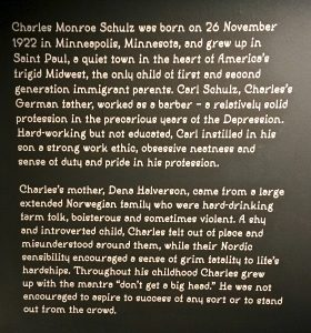 Bookwagon Charles Schulz exhibition Somerset House