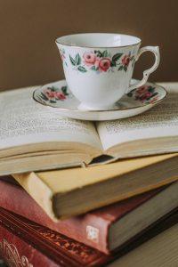 Bookwagon tea and books