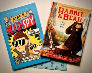 Mac Bear Kid Spy and Rabbit and Bear Bite in the Night Bookwagon