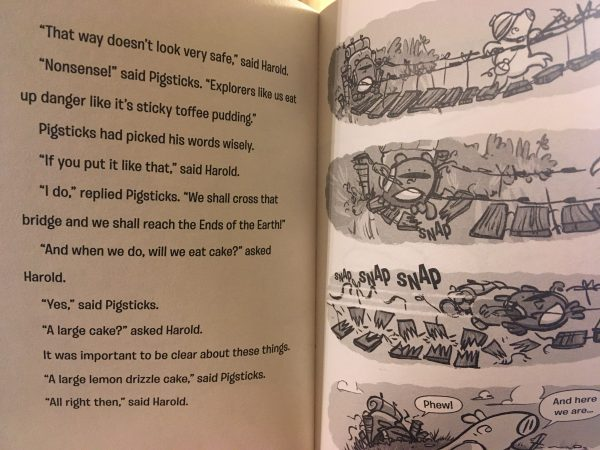 Bookwagon extract (C) Pigsticks and Harold the Ends of the Earth