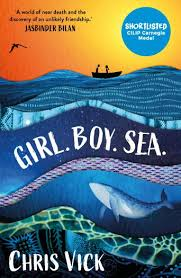 Bookwagon Girl. Boy. Sea.