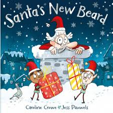 Bookwagon Santa's new Beard